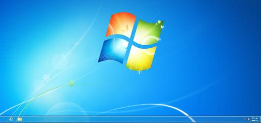 windows8のデスクトップ画面