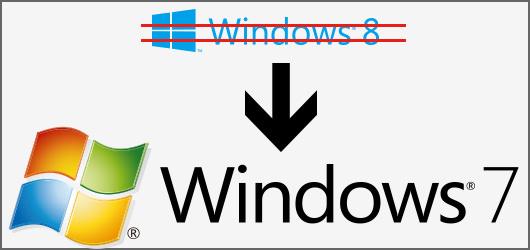 windows7に変更する方法